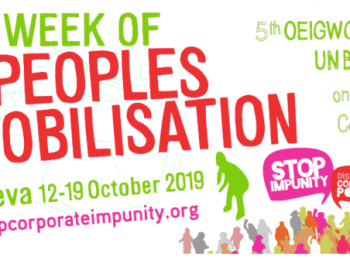 Week of Peoples Mobilisation for UN treaty | Oct 2019